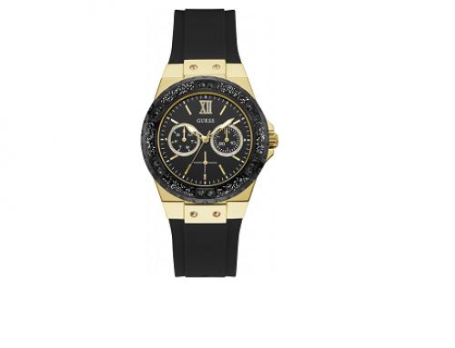 Ceas de damă Guess Limelight W1053L7, Quartz, carcasă rotundă, 5ATM, carcasă aurie, display Analog