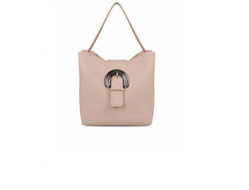 Geantă de umăr LW5SQ Laura Ashley de damă roz cu buzunar detașabil