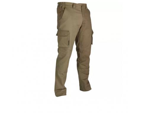 Solognac WCQ5H, pantaloni de vânătoare bărbați cu buzunare laterale și talie elastică, din bumbac, verzi