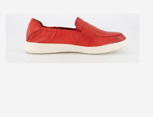Pantofi cu aspect perforat Vincenza GLU5Q, de damă casual, din piele naturală, cu talpă joasă roșii, Tamaris