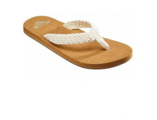 Papuci de damă Roxy TF2HL Dahlia cu talpă plată și joasă, de plajă și stradă, cu branț cu spumă de memorie