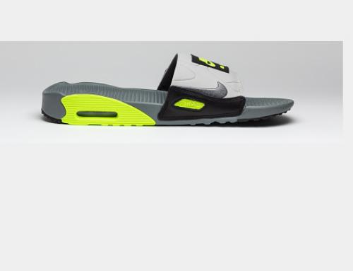 Papuci sport Nike TLU5Q pentru bărbați de plajă și stradă, Brando, cu talpă plată, Air Max 90