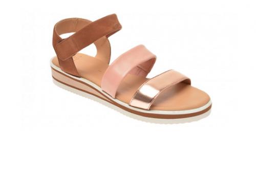 Sandale de damă Ara RLH5U Fulvia din piele naturală, casual, multicolore, cu talpă plată
