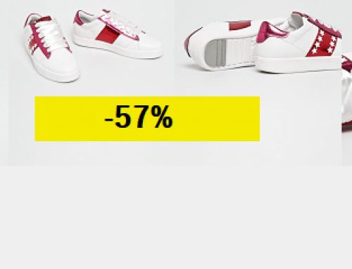 Promoția zilei: Reducere de -57% la adidași de damă Marco Tozzi albi și cu talpă plată, din imitație de piele