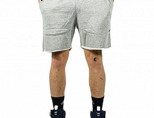 Pantaloni scurți bărbați LVQ5H Supra Chilling Flc gri lejeri, stil sport, cu buzunare și șnur