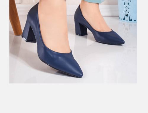 Thordis RL4EQW, pantofi de damă office albaștri cu toc gros și vârf ascuțit, Gisalia