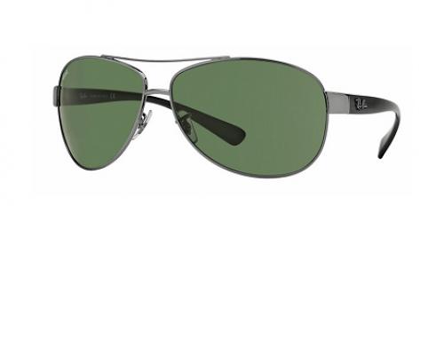 Ochelari de soare bărbați Ray-Ban RB3386 polarizați cu lentile maro și rama din metal,