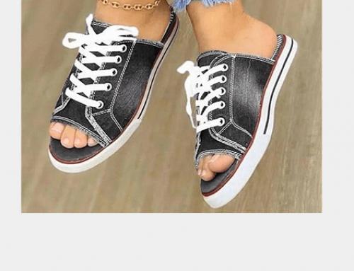 Papuci stil teniși Greta EDQ4NU de damă, casual din pânză, cu talpă plată și șireturi