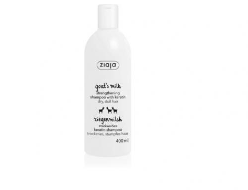 Șampon LW4GD Ziaja Goat's Milk pentru păr uscat și deteriorat, cu keratină și proteine din lapte de capră