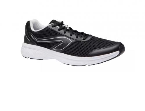 Pantofi sport bărbați TH3BGQ Kalenji pentru jogging, negri, cu talpă din spumă EVA