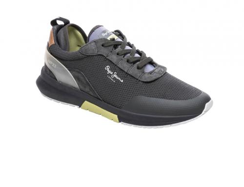 Pantofi sport bărbați Pepe Jeans TLDW5U Nº22 Hume negri cu plasă de aerisire