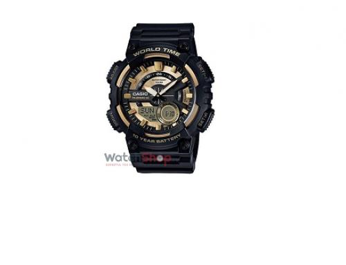 Ceas sport bărbătesc Casio AEQ-110BW-9A, Quartz, 10ATM, Digital/Analog