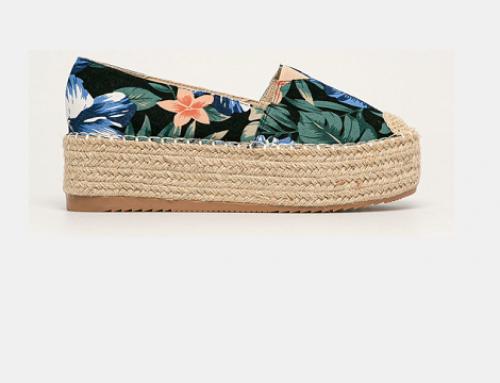 Espadrile de damă Venice ELM4BW Answear cu platformă casual, imprimeu floral, din material textil