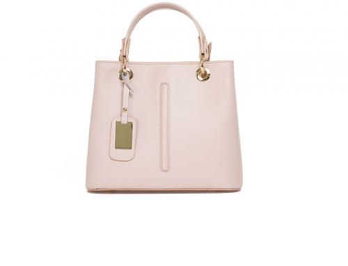 Geantă de damă Ysobel LMF4E elegantă de mână din piele naturală, roz, Amelie, cu buzunar interior