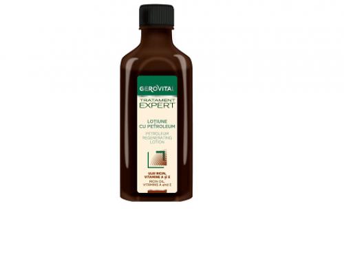 Loțiune de păr Gerovital FLH4NQ anticădere cu petroleum și Vitamina E pentru regenerare