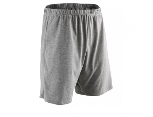Pantaloni scurți de fitness UDW5H Nyamba bărbați, gri, lejeri din bumbac cu buzunar