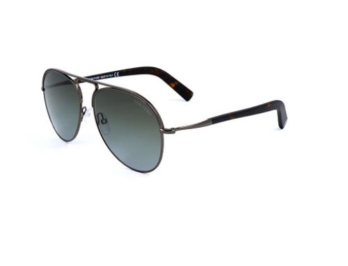 Ochelari de soare W-H2MJW Tom Ford bărbați stil Aviator, FT0448 08B, cu lentile gri polarizate