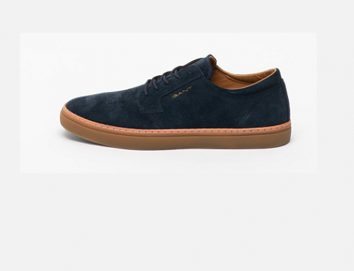 Gant LD5UHW Viggo, pantofi bărbați din piele întoarsă casual cu talpă plată, bleumarin, Prepville