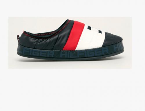 Tommy Hilfiger D-HM5BW, papuci de casă bărbați din material textil, cu talpă din cauciuc