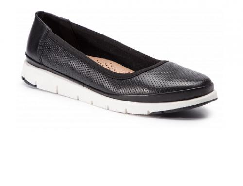 Sergio Bardi EL4RMQ, pantofi cu talpă plată, de damă, din piele naturală negri fără toc