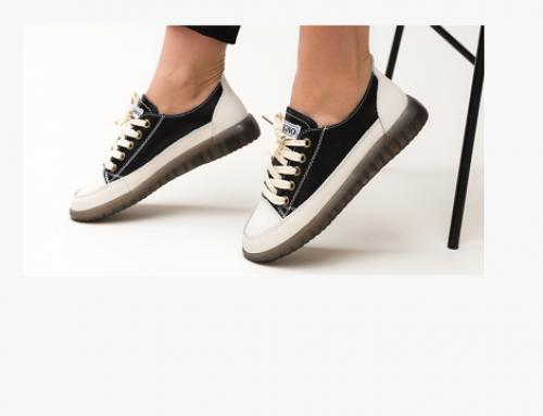 Prudie LBF4GQ, pantofi sport de damă din piele naturală cu talpă plată, Digrio, negri