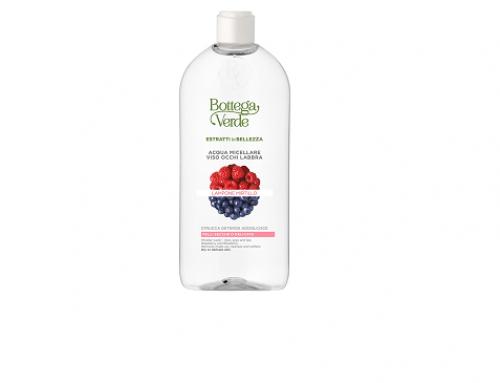 HN4FL Estratti di Bellezza, apă micelară pentru ten uscat și sensibil, cu zmeură și afine