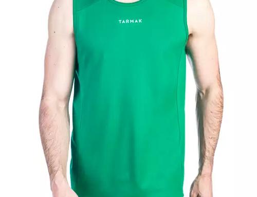 Maiou sport bărbați GLQ4UL Tarmak verde pentru baschet din material ușor