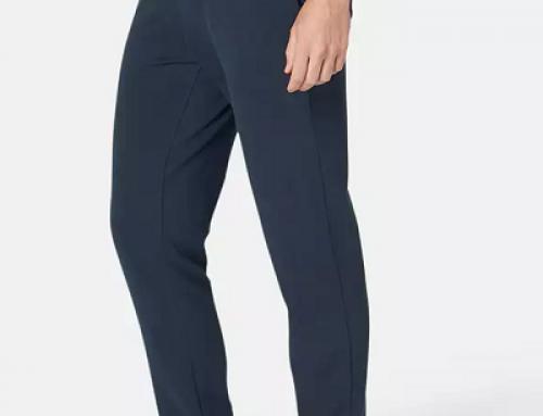 Pantaloni sport bărbați HL4TGQ Nyamba extensibili din bumbac bleumarin cu buzunare