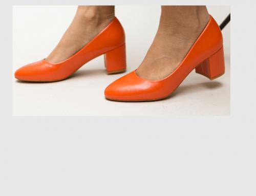 Pantofi de damă Adalyn LB4UTQ Hummer office portocalii din piele ecologică