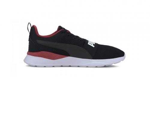 Puma H4DuT5Q Anzarun, pantofi sport bărbați negri, din material textil, cu plasă e aerisire