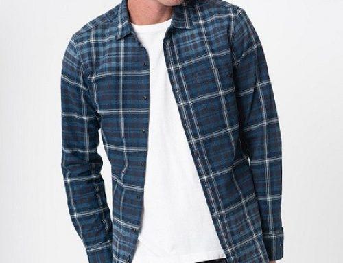 Replay T-HLU5Q, cămașă în carouri bărbați casual, din bumbac, albastră, cu buzunar la piept