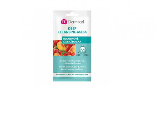 Dermacol G-N4eWSQ, mască de față pentru curățarea tenului, cu extract de piersică, pentru toate tipurile de piele