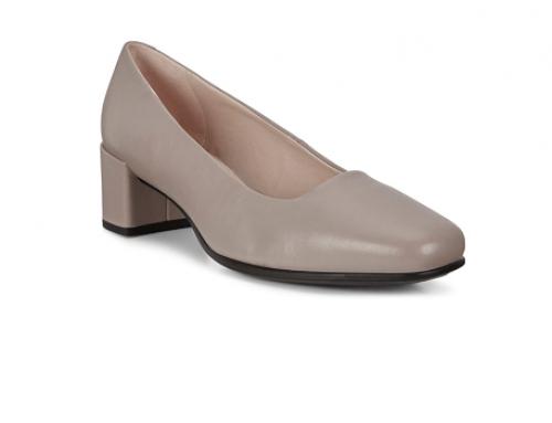 Pantofi office W-LH5VQ Ecco Shape Squared de damă din piele naturală cu vârf rotund și toc masiv