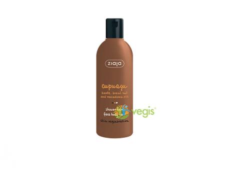 ZIAJA L/EQW4bS, balsam de duș hidratant cu ulei de nuci și macadamia, pentru corp și păr