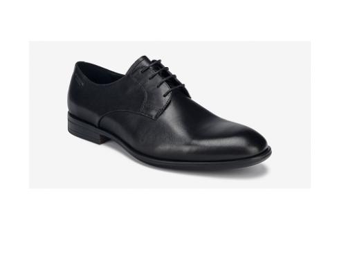 Pantofi office Vagabong W/LQ3UbQ pentru bărbați, din piele naturală, negri, cu talpă joasă