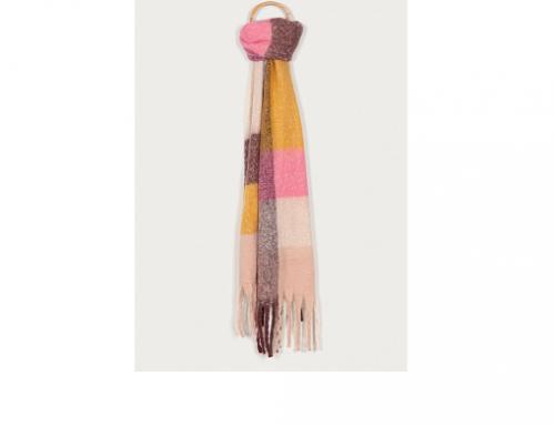Haily's TQ-SLW4NFL, fular de damă moale multicolor din tricot cu franjuri