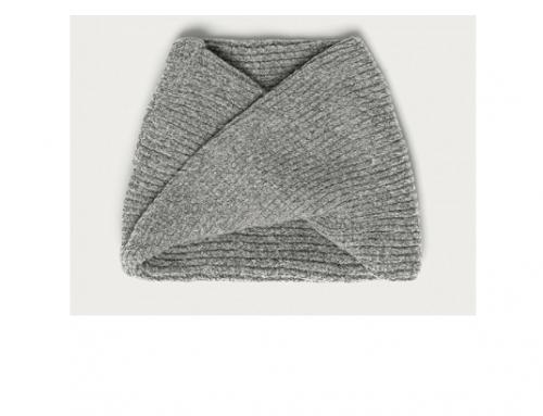 Morgan WbM-H2THU, fular de damă călduros tricotat elastic circular împletit, gri