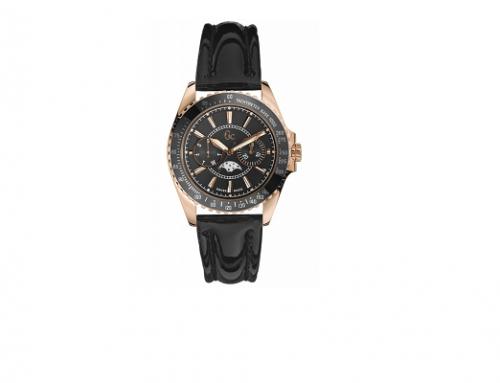 Ceas de damă WLG-D4HKL Guess Collection cu brățară din piele, I41006M2, carcasa rotundă, 10ATM, Quartz elvețian