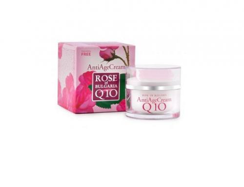 Cremă de față TL-V4SWQ Biofresh anti-îmbătrânire, cu apă de trandafir, ulei de jojoba, coenzima Q10 și vitamina E