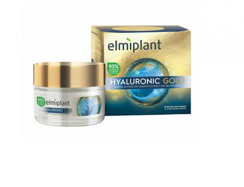 Elmiplant WL-D4SBQU cremă de noapte antirid Hyaluronic Gold cu proteine aurii din orez și mazăre