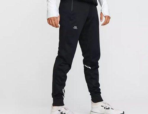 Pantaloni bărbați Kalenji EhT-W53UD sport negri cu buzunare, pentru alergare, jogging