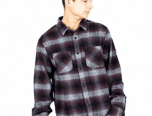 Volcom DLwT4WM, cămașă în carouri casual pentru bărbați, din bumbac, dreaptă și cu buzunare la piept