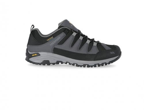 Trespass BwLD5UHF, pantofi sport bărbați rezistenți cu talpă vibram, gri închis, pentru drumeții și de stradă