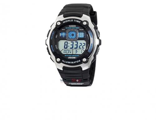 Ceas sport Casio AE-2000W-1AVEF pentru bărbați, mecanism Quartz, display Digital, 20ATM