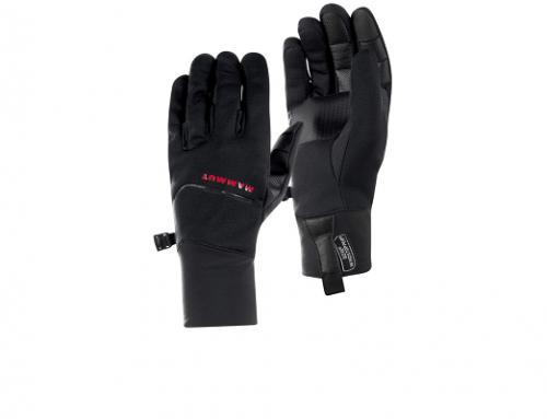 Mănuși Mammut DwQ5BH pentru bărbați, compatibile cu ecranul telefonului, negre, din material impermeabil, Astro