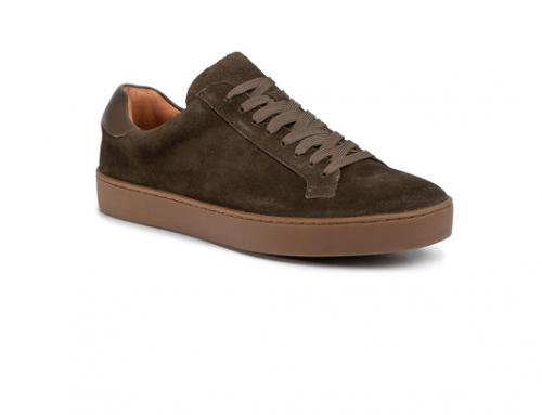 Pantofi kaki LT-EwS4M Gino Rossi pentru bărbați, din piele naturală, stil casual, cu talpă plată