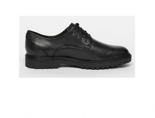 Tamaris WLmT4HE, pantofi de damă cu toc mic și talpă joasă, din piele naturală, negri, cu șiret și vârf rotund