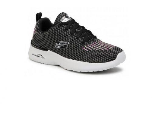Pantofi sport de damă TDswB2H Skechers pentru fitness, negri, din material textil cu spumă  Memory Foam