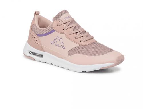 Kappa QHL-Sk4N, pantofi sport de damă roz din piele ecologică Darwin