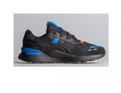 Pantofi sport Puma SLwQLMD pentru bărbați, din piele întoarsă și cu talpă din cauciuc vulcanizat, negri
